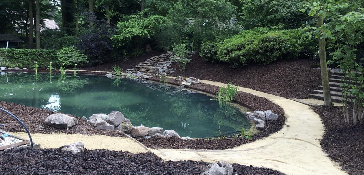 Grote vijver met waterval for Vijverpomp voor grote vijver